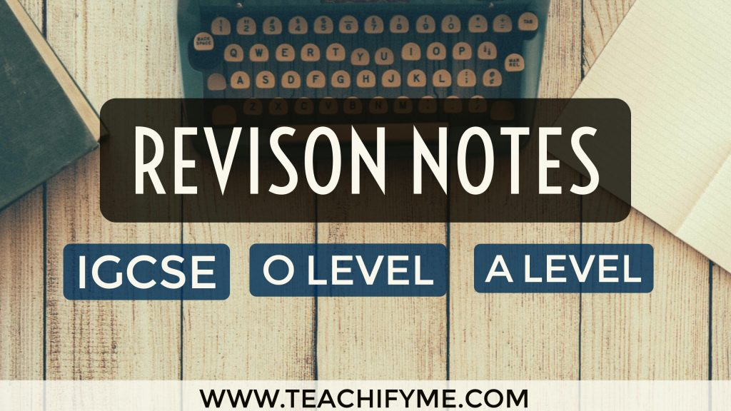 Revision Notes - TeachifyMe