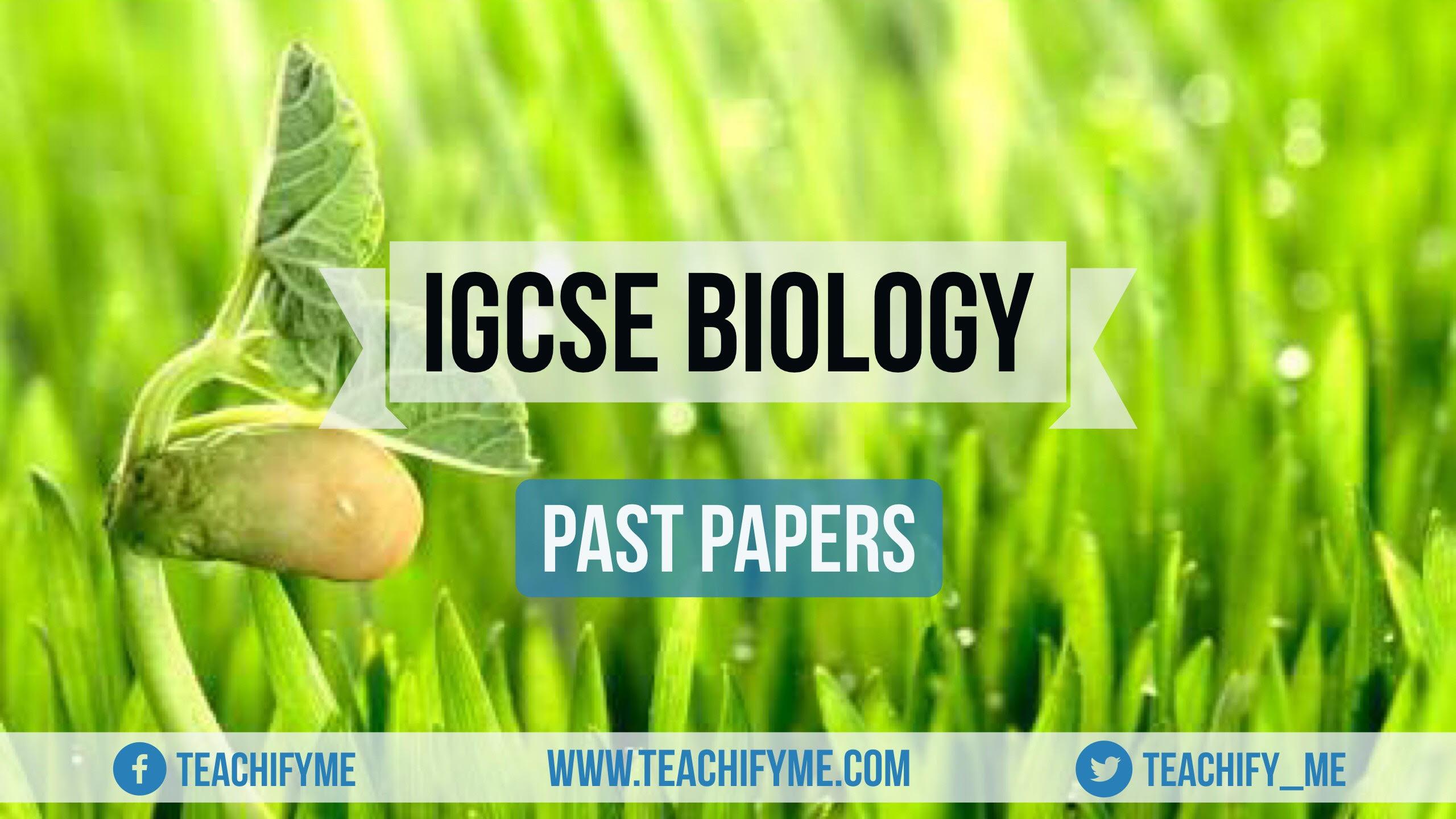 Igcse Biology Past Papers Pdf