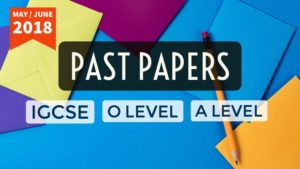 Past Papers IGCSE O Level A Level